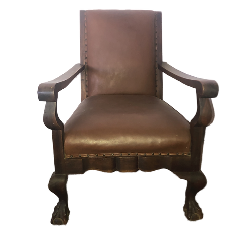 Hampton Armchair - Red/Brown