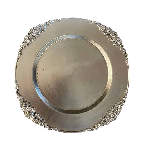 Antique Underplate - Silver