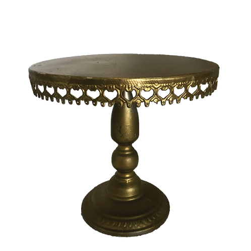 Antique Cake Stand - Gold