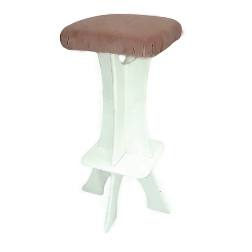Tosca Bar Chair - Pink & White