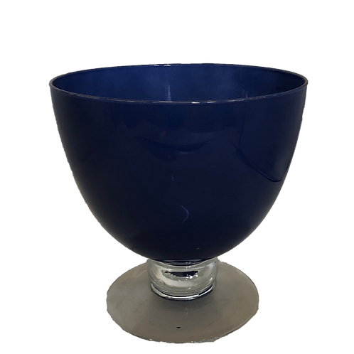 Botanical Glass Vase - Navy (L)