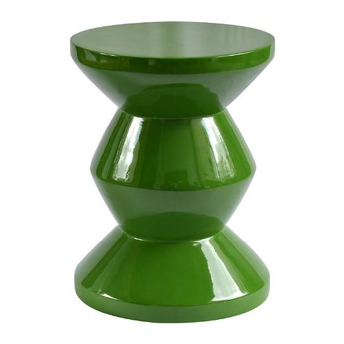 Zig Zag Side Table - Green