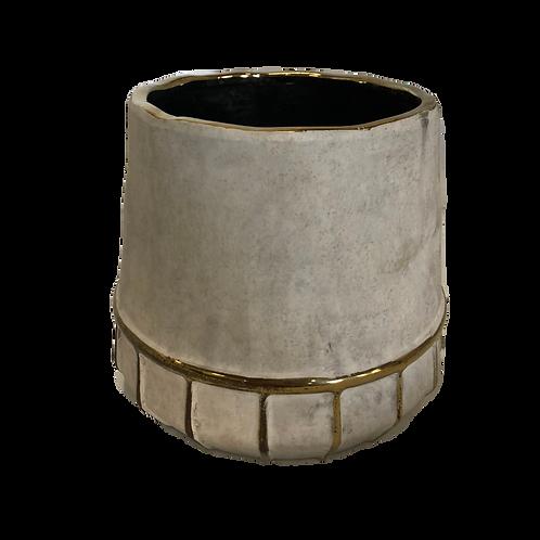 Cylinder Gold Drip Vase - Large