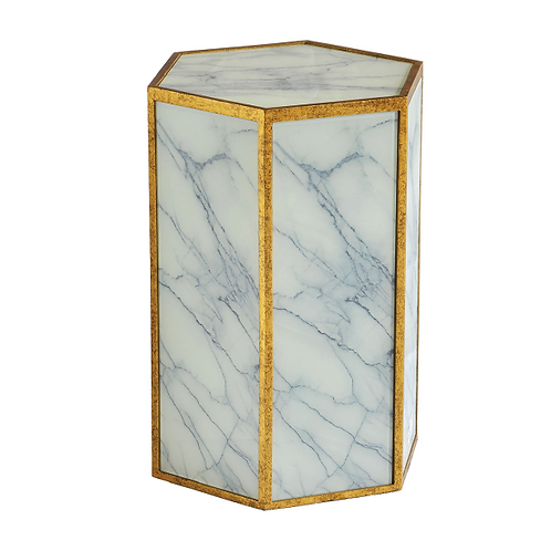 Marble Side Table -White