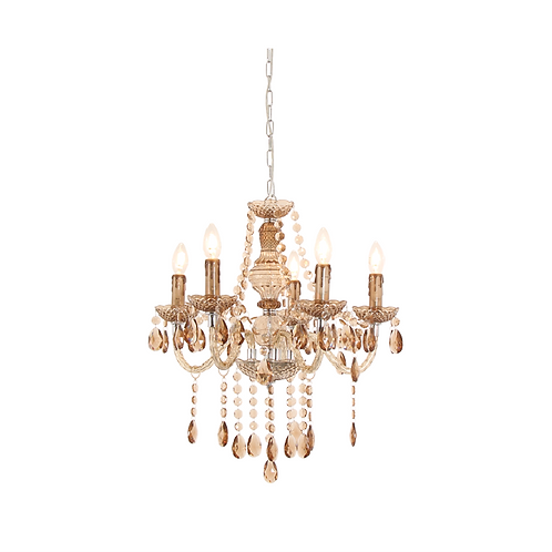 Crystal Chandelier - Amber