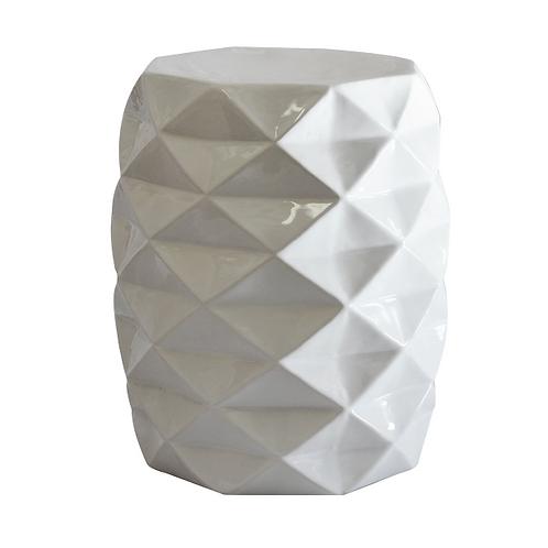 Facet Side Table - White