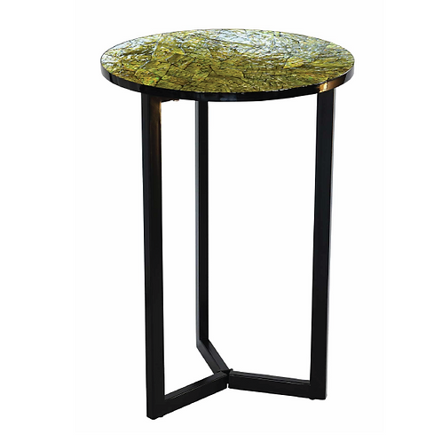 Mosaic Pedestal Table - Yellow