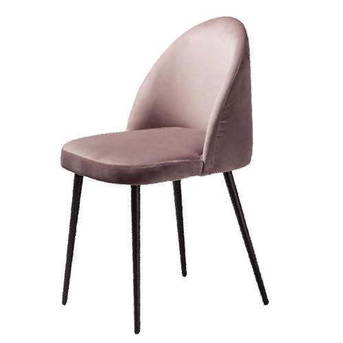 Eliana Velvet Chair - Pink