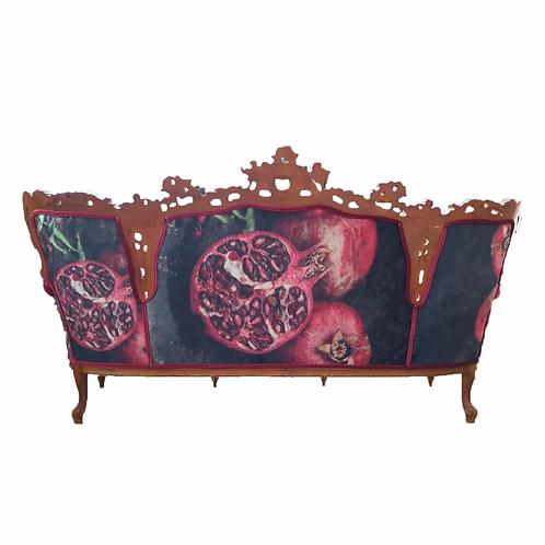 Loretta Cabriole Couch - Burgundy