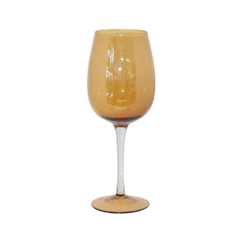 Wine Goblet - Amber Lustre