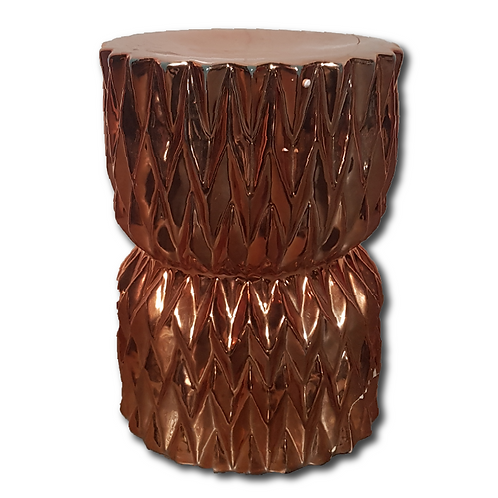 Fluted Side Table -Rose Gold