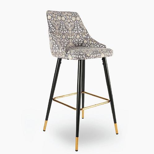 Freya Velvet Bar Chair - Print