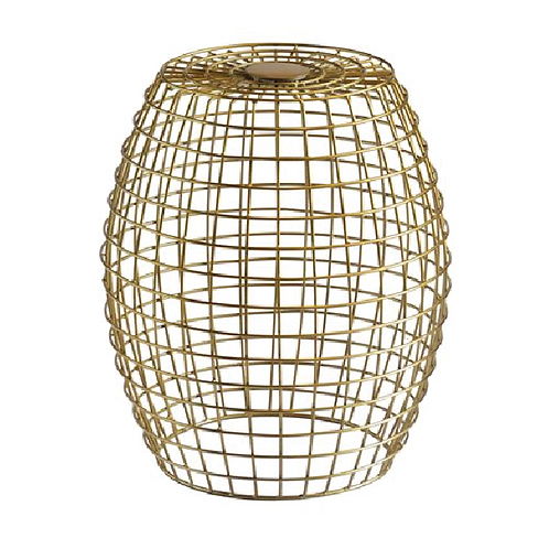 Gold Grid Side Table - Gold