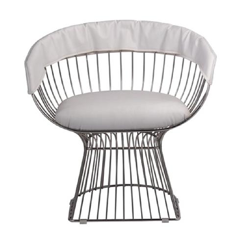 Jupiter Chair - Silver & White