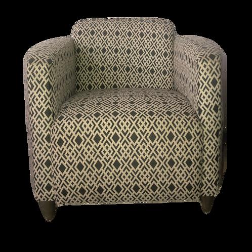 Tub Chair - Black & White