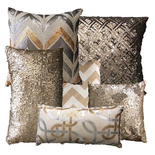 Metallic Scatter Pillows