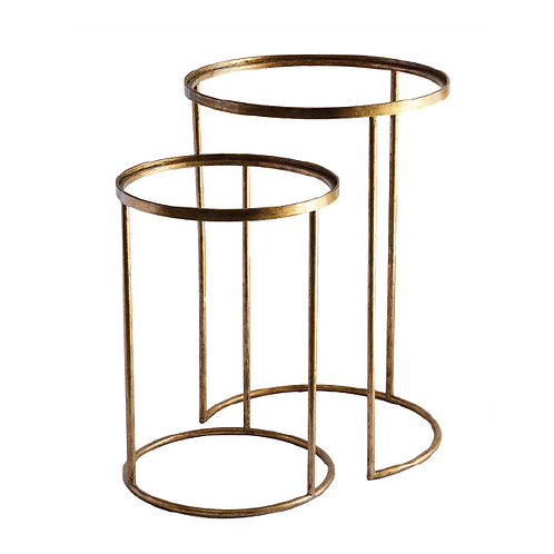 Stack Side Tables - Gold