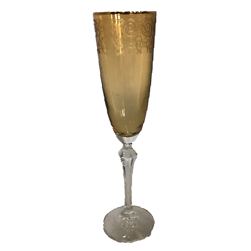 Champagne Flute - Gold & Amber