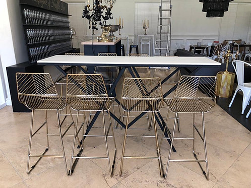 Geometric Cocktail Table - Black & White