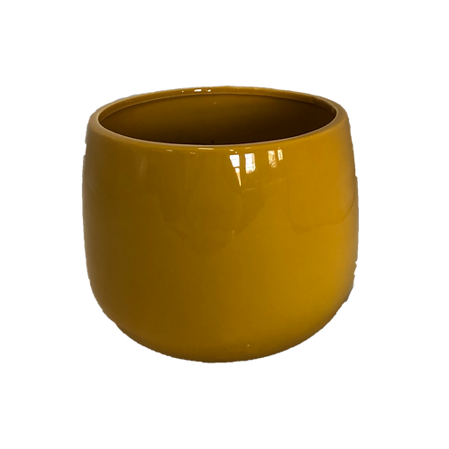 Ceramic Pot - Mustard (Large)
