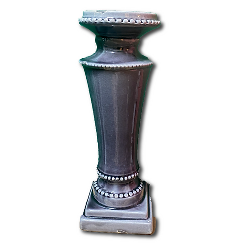 Ceramic Pillar Candleholder -Plum (Tall)