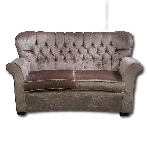 Vintage Velvet Couch -Rose Gold