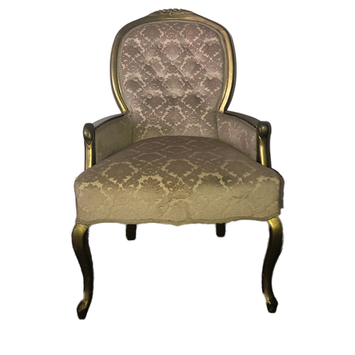 Damask Armchair - Pink & Gold