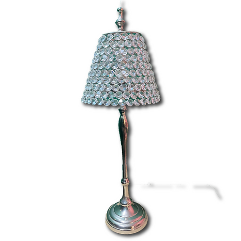 Crystal Table Lamp -Silver