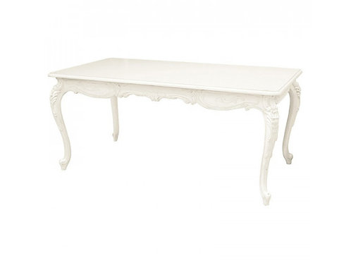 French Antique Table - White