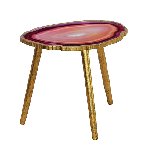 Agate Side Table -Pink