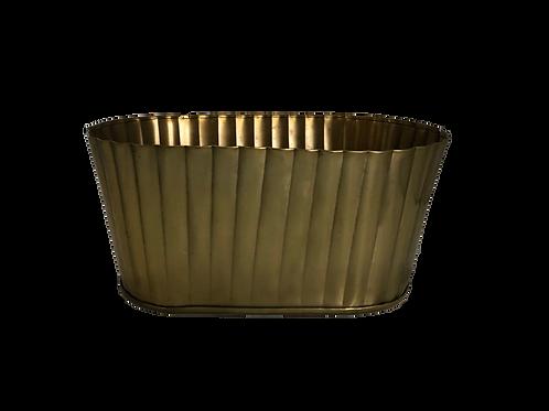 Heather Metallic Oval - Gold