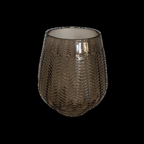 Smoke Herringbone Vase - Medium