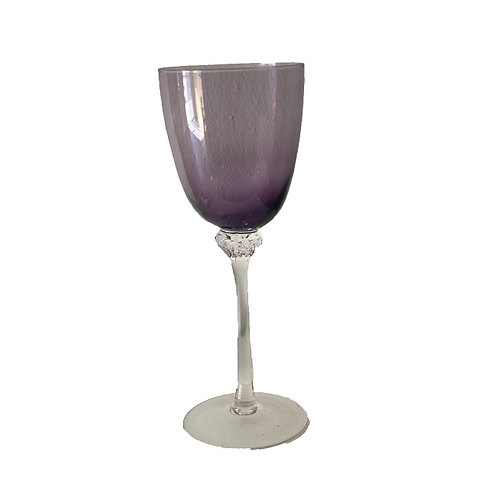 Wine Goblet Glass - Plum
