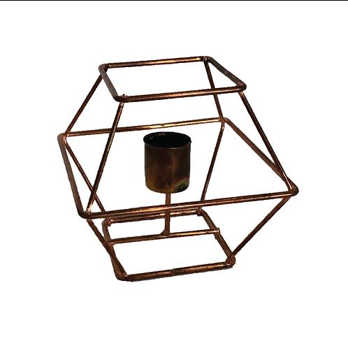 Rubix Geometric Candle Holder - Rose Gold