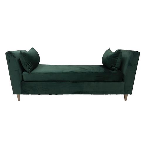 Vanessa Velvet Couch - Emerald Green