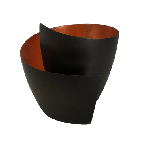 Conch Vase - Black & Copper