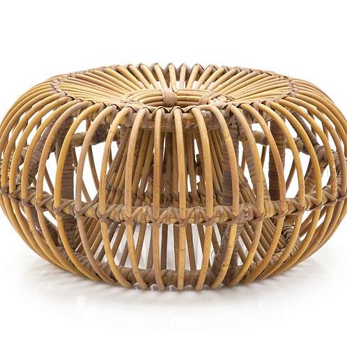 Bamboo Ottoman -Natural