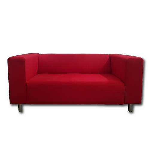 Fabric Block Couch -Red