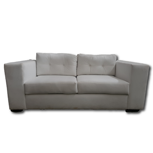 Velvet Two Seater Couch -White