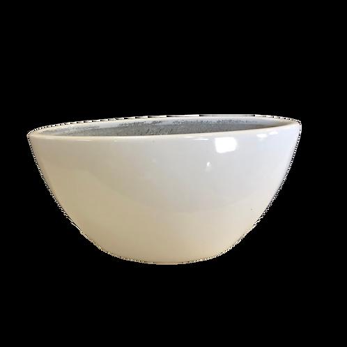 Ceramic Boat Vase - White
