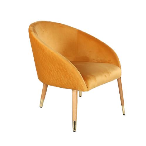 Rae Velvet Chair - Mustard