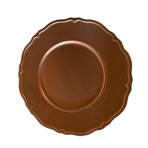 Scallop Underplate - Copper