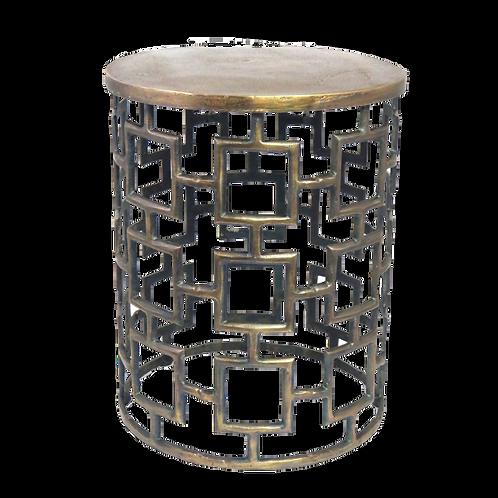 Geometric Side Table - Brass