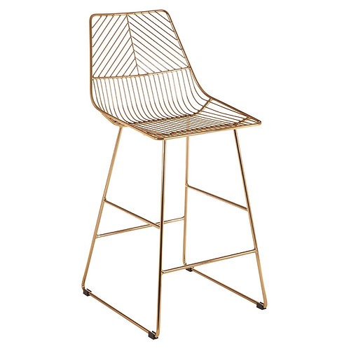 Gatsby Bar Chair - Rose Gold