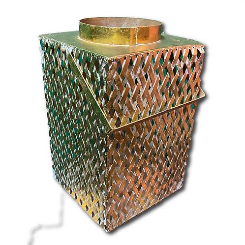 Woven Metallic Lantern -Gold