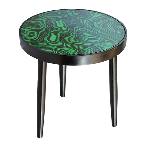 Agate Side Table - Emerald Green