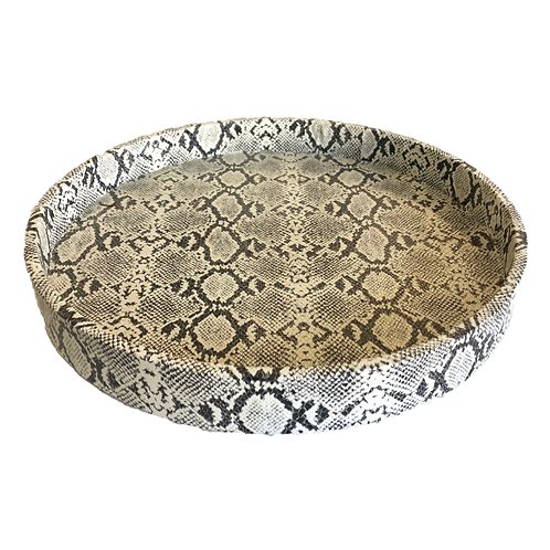 Snake Skin Tray - Black & White