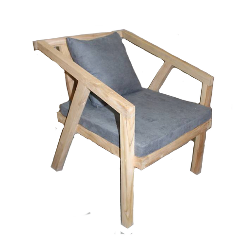 Eva Lounge Chair - Natural Wood