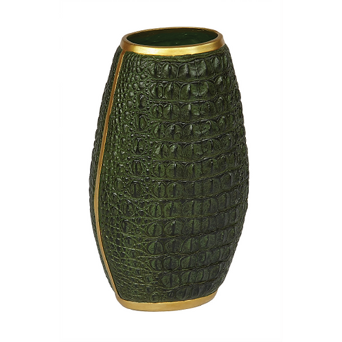 Crocodile Vase - Green
