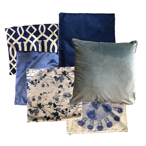 Blue & Navy Scatter Pillows